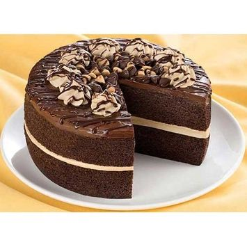 Brill Reeses Peanut Butter Chocolate Mousse Double Layer Cake, 2.64 Pound - 4 per case.