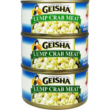 Lump Crab Meat, Wild Caught (Pack of 3), 6 oz Can - Geisha : Grocery & Gourmet Food