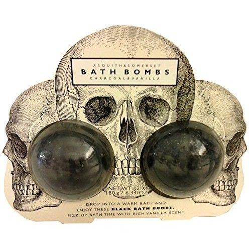 Asquith & Somerset Black Charcoal & Vanilla Bath Bomb Set 2 x 6.34 oz. from England