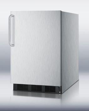 Summit FF6BCSSADA 5.5 Cu. Ft. Stainless Steel Undercounter Compact Refrigerator