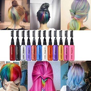 Binmer(TM) 13 Colors Temporary Hair Dye Mascara Hair Dye Cream Non-toxic DIY Hair Dye Pen (D)