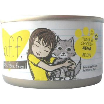 Best Feline Friend Tuna and Chicken 4-Eva Canned Cat Food 8 count, 5.5 oz