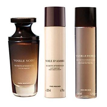 Yves Rocher Vanille Noire 3-piece Gift Set for Women: Vanille Noire Eau de Perfume, 50 ml/ Perfumed Body Lotion...