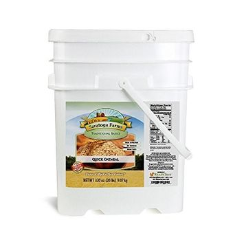Saratoga Farms Quick Oatmeal ValueBUCKET, 5.3-Gallon Bucket, 320 Ounces Of Oats, Quick & Easy, Prepares In Minutes