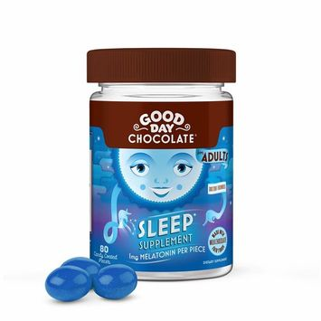 Good Day Chocolate Melatonin Supplement, Natural Sleep Aid (80Count)