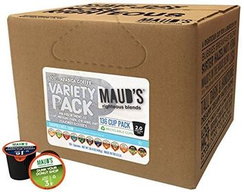 Maud's Coffee Maud's Gourmet Coffee Pods - 12 Flavor Variety Pack, 136-Count Single Serve Coffee Pods - Richly Satisfying Premium Arabica Beans, California-Roasted - Kcup Compatible, Including 2.0