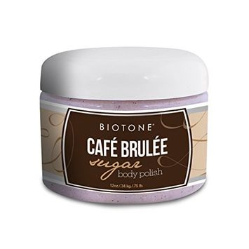 Biotone Cafe Brulee Sugar Body Polish, 12 Ounce
