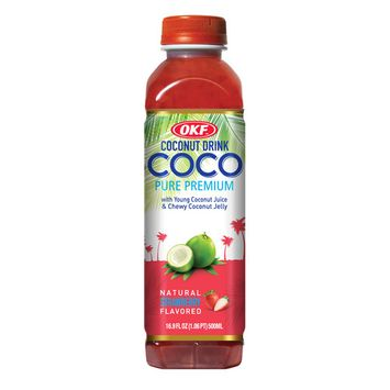 OKF Coco Drink, Strawberry, 16.9 Fl Oz (Case of 20)