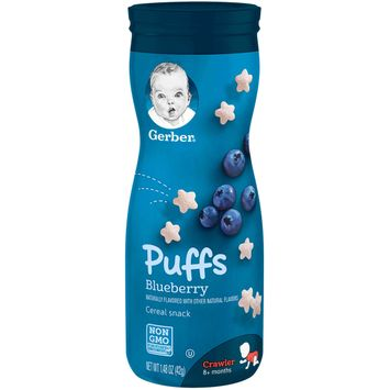 Gerber Puffs Cereal Snack, Blueberry, 1.48 oz