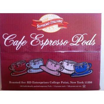 Cafe Espresso Pods (100 Individually Packed Espresso Pods)