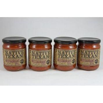 Native Texan Medium Salsa 16oz Jar (Pack of 4) (Restaurant Style)