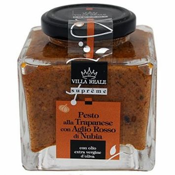 Villa Reale Italian Trapanese Pesto Sauce with Red Garlic, 6.35 Ounce, Pack of 1