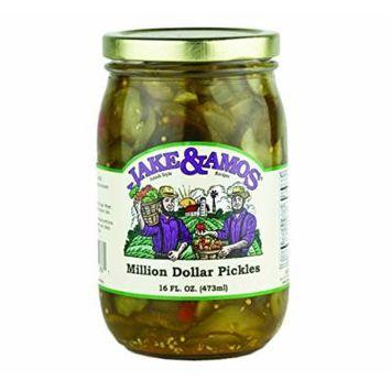Jake & Amos Million Dollar Pickles, 16 Oz. Jar