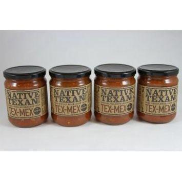 Native Texan Medium Salsa 16oz Jar (Pack of 4) (Tex-Mex)