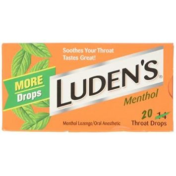 Luden's Menthol Throat Drops 20 Count (Pack of 20)