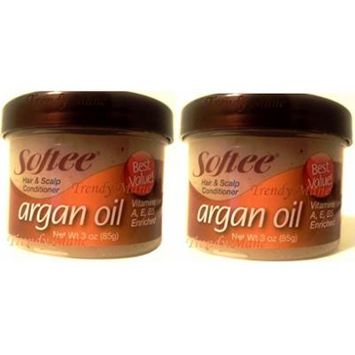 Softee Argan Oil Hair and Scalp Conditioner (2 Pack)