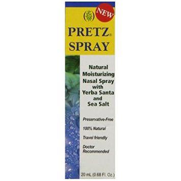 Pretz Spray Natural Moisturizing Nasal Spray with Yerba Santa and Sea Salt, 0.68 Fluid Ounce