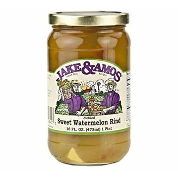 Jake & Amos Pickled Sweet Watermelon Rind, 16 Oz. Jar (Pack of 2)