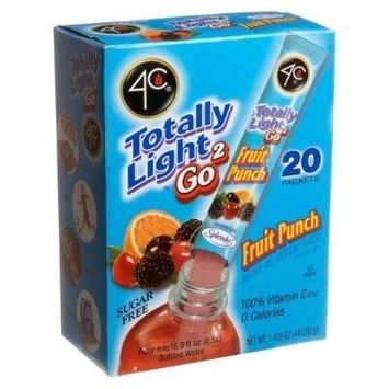 4C Totally Light 2 Go Fruit Punch, Sugar Free, 20-Count Boxes (Pack of 3)