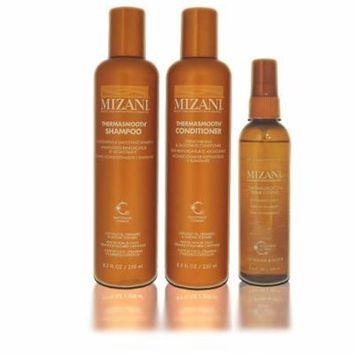 Mizani Thermasmooth Shampoo 8.5 oz, Mizani Thermasmooth Conditioner 8.5 oz, Mizani Thermasmooth Shine Extend Anti Humidity Spritz 3.4 oz - 3 Set