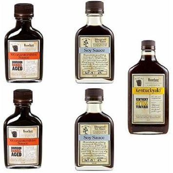 Bundle of 5 - Bourbon Barrel Sauces - 2 Bluegrass Soy Sauce, 2 Aged Worcestershire Sauce and Kentuckyaki (Bundle of 5)