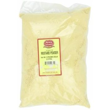 Spicy World Ground Yellow Mustard Powder Bulk, 5-Pounds