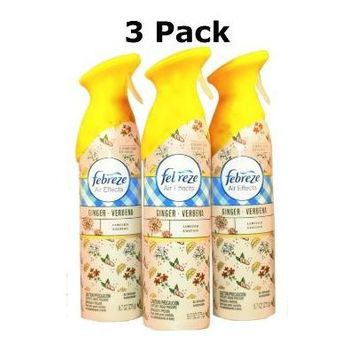 Febreze Air Effects Room Spray, Ginger Verbena 9.7 Oz (3 Pack)