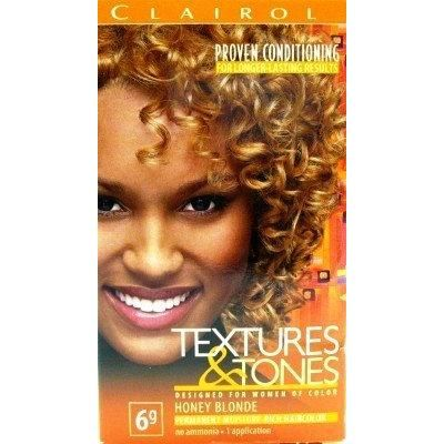 Clairol Text & Tone #6G Honey Blonde Kit (3-Pack) with Free Nail File