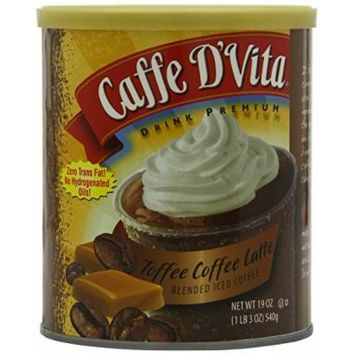 CAFFE D'VITA SMOOTHIE MIXES 19OZ CAN (TOFFEE COFFEE ICED COFFEE)