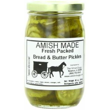 Amish Buggy Pickles, Bread and Butter, 16 Ounce (Pack of 12)