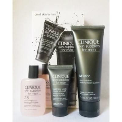 Clinique Great Skin Supplies for Men 3-Step Set-Normal to Dry Skin