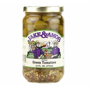 Jake & Amos Pickled Green Tomatoes, 16 Oz. Jar