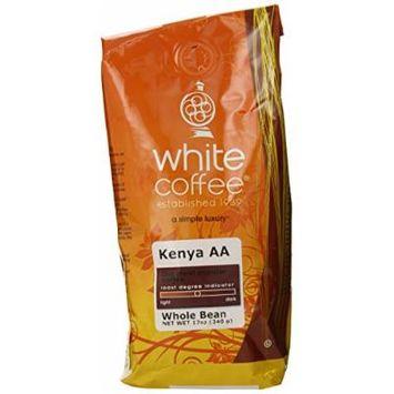 White Coffee Kenya AA (Whole Bean), 12 Ounce Package