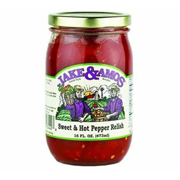 Jake & Amos Sweet & Hot Pepper Relish, 16 Oz. Jar