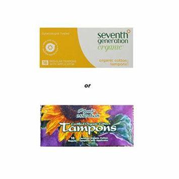 Organic Essentials Certified Organic Cotton Tampons-16 regular w/ applicator