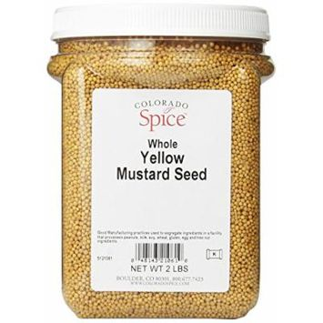 Colorado Spice Mustard Seed, Whole Yellow, 32 Ounce Jar