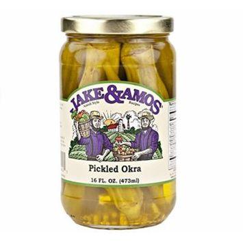 Jake & Amos Pickled Okra, 16 Oz. Jar