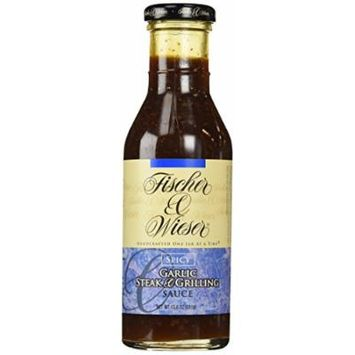 Fischer & Wieser Specialty Foods Spicy Garlic Steak and Grilling Sauce, 13.8 Ounce