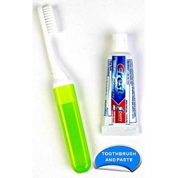 Dental Source Travel Toothbrush and Crest Toothpaste Kit, 144-pack