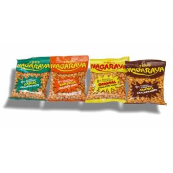 Nagaraya Cracker Nuts Assorted Bundle 4-Pack: Original, Barbecue, Garlic, Adobo