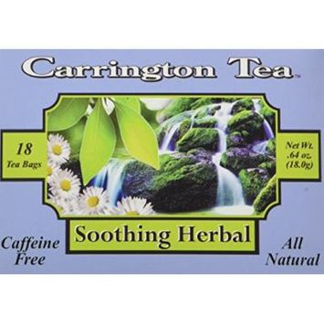 Carrington Tea, Soothing Herbal, 18 Tea Bags (Pack of 6)