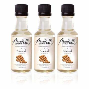 Amoretti Premium Almond Syrups 50ml 3 Pack