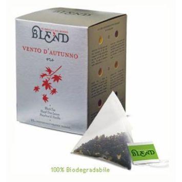 Vento D'Autunno Tea, 15-Count Individually Wrapped Pyramid Tea Bags