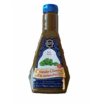 KFI Coriander Cilantro Chutney Sauce, Spicy, 15.4 fl-Ounce Bottles (Pack of 3)