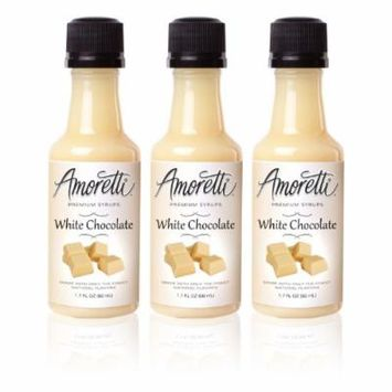 Amoretti Premium White Chocolate Syrups 50ml 3 Pack