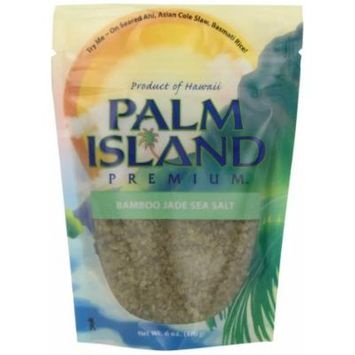 Palm Island Premium Bamboo Jade Sea Salt, 4-Ounce Pouch (Pack of 6)
