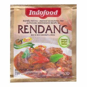 Indofood Rendang - Beef in Chili & Coconut Seasoning, 23 Gram (Pack of 3)