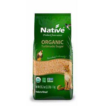 Native USA Turbinado (Demerara) Organic Sugar, 2.2-Pound Bags (Pack of 6)