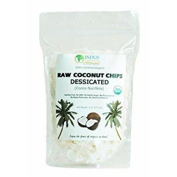 Indus Organic Dried Coconut Chips/shreds 8 Oz Bag (1x3) , Raw, Freshly Packed, No Added Sugar/salt...