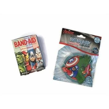Avengers Cold Pack Bandage Bundle Children's Boo Boo Buddy First Aid Cool Pain Relief